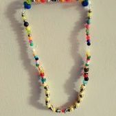 (13) Multi-Color Pony Round Bead Necklace