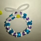 (1371 A-D) Blue Purple Wreath Ornaments