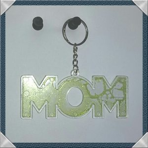 (18) MOM Keychain Metallic Lime
