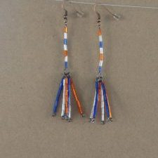 (201) Lg Fireworks Dangle Earrings