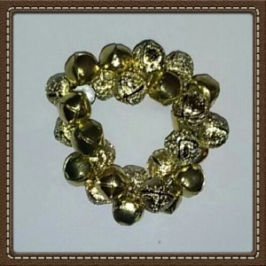 (210) Metallic Gold & Gold Jingle Bell Bracelet