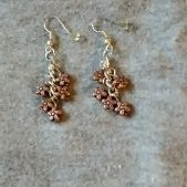 (260) Copper Flower Cluster Earrings