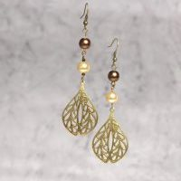 (261)Brass_Teardrop_Pearl_Earrings