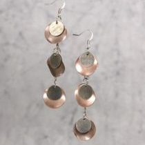 (263) Gunmetal_Copper_Cointype_Earrings