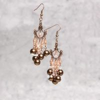 (264) Copper_Filigree_Pearl_Earings