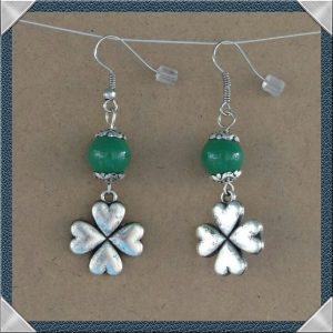 (48) Metal Clover Earrings