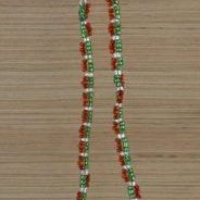 (59) Red Green Clear Netted Bracelet