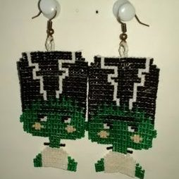 (723) Bride of Frankenstein Earrings