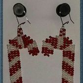 (74) Candy Cane Earrings