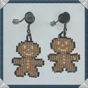 (76) Gingerbread Man Earrings