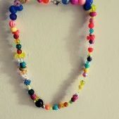 (78) Multi-Bead Multi-Color Necklace