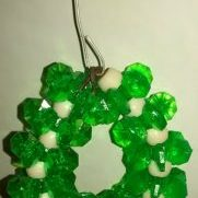 (962) Green Wreath Ornament