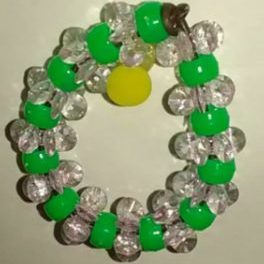 (977) Green Clear Wreath Ornaments