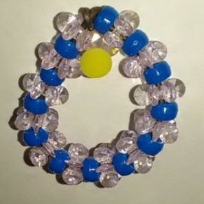 (978) Blue Pink Wreath Ornament