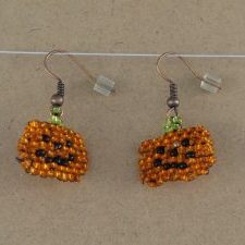 Pumpkin Handwoven Earrings